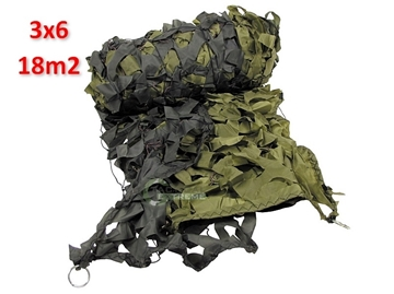 Εικόνα της Δίχτυ Σκίασης & Καμουφλάζ Λαδί 3 x 6m