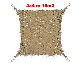 Εικόνα της Coyote Δίχτυα Σκίασης 4x4 m με αρτάνι και συρματόσκοινο περιμετρικά