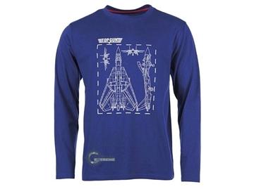 Εικόνα της Μπλούζα Μακρυμάνικη Mil-Tec T-shirt Top Gun Μπλε