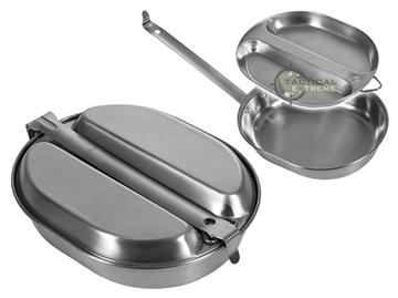 Εικόνα της Σετ Σκεύη Μαγειρικής US Mess Kit Stainless Steel Mil-Tec